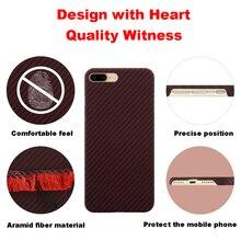 Ultra fino colorido aramida fibra caso para iphone x capa de borracha fosco padrão de fibra de carbono para iphone 7 8 7 plus 8 mais caso