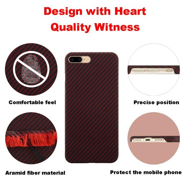 Ультратонкий цветной чехол из арамидного волокна для iPhone X, матовый резиновый чехол из углеродного волокна для iPhone 7 8 7 Plus 8 Plus