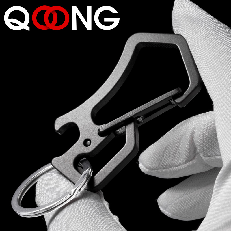 QOONG 2019 High Grade Keychain Keyrings Portable CNC Tool Key Chain Ring Holder Simple Chic Gift For Men Women For Car Y50 in Key Chains from Jewelry Accessories