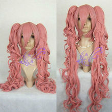 Wholesale heat resistant LY free shipping Princess Mononoke COSPLAY Wig 2xClip On Ponytail Fashion Cosplay Wig