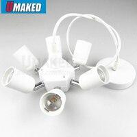 6 in 1 E27 lamp holder converter, Lamp Adapter lamp holder for ceiling light