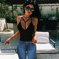 2017 Summer Sexy Women's Crop Tops Solid Straps Crop Tops Fashion Women Camisole Top sale Halter Top R311