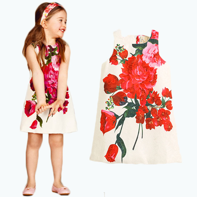 Подробнее о Robe Noel Fille Princess Dress Girls Clothes 2017 Brand Girls Summer Dresses Kids Costume Rose Flower Printed Children Dress princess dresses for girls costume 2017 brand summer girl dress children clothing rose flower robe mariage fille kids clothes