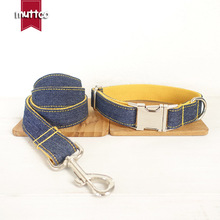 New 125mm High Grade Yellow Cowboy Cloth Ribbon Dog Collar, Leash, Safety Belt, With Top Quality Cotton And Nylon Materials