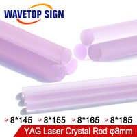 Machine de soudage Laser WaveTopSign Machine de découpe Laser à tige en cristal YAG taille de tige en cristal 8*145 8*155 8*165 8*185mm