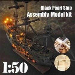 Nieuwe 1:50 DIY De Black Pearl Model Schip Kits Voor Gift VOOR s van de Caribbean DIY Set Kits Montage boot
