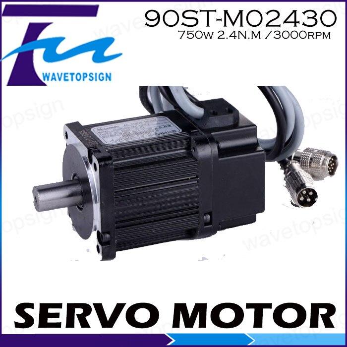 Servo motor 90ST-M02430/750w 2.4N.M /3000rpm servo motor hf sp152b 90