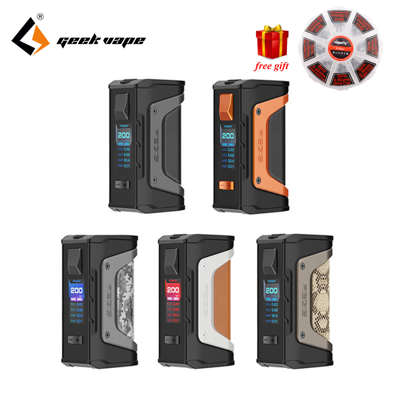 Free gift GeekVape Aegis mod aegis Legend 200W TC Box MOD Powered by Dual 18650 batteries e cigs No Battery for zeus rta blitzen vividcraft 1pc portable adjustable folding tablet book holder for reading decorative bookends office desk holder tilt bookstand