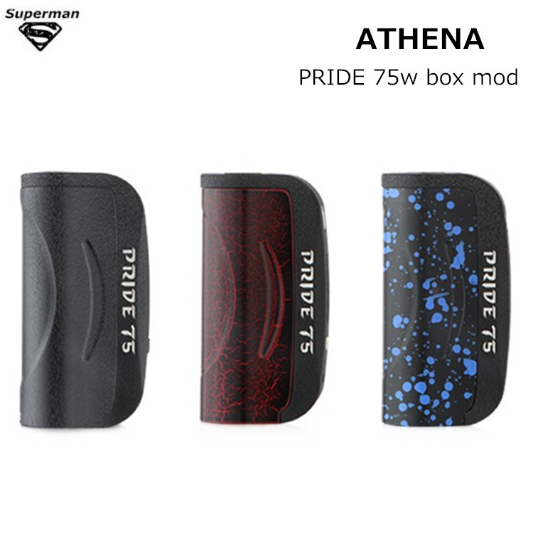 ATHENA Original PRIDE 75W box mod kit Aluminum version Chip Evolv DNA 75 Vaporizer electronic cigarette  vape kits e cigarettes 100% original vapor shark vaporshark dna 250w electronic cigarettes box mod mods patented dna250w 250w dna250