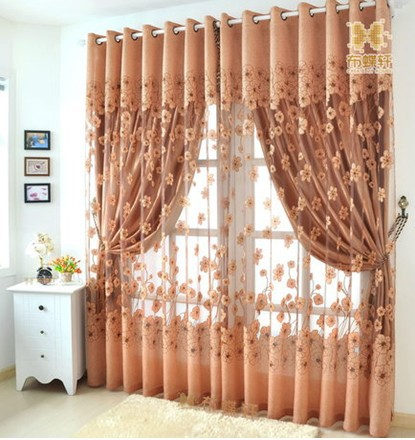 Perfect Free Shipping Ready Made Tulle+Curtains For Living Room Shade Organza For  Hotel Luxury Yelow Part 20