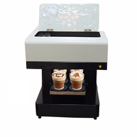 Vilaxh 4 cup Automatical Coffee Printer Machine Food Printer for Cake Pizza Bread Milk Biscuit Pizza Candy