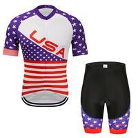 2019 sommer Radfahren Jersey Set Radfahren Kleidung Anzug Zauber farbe streifen Mountainbike Kleidung Racing Fahrrad Kleidung Anzug-in Fahrrad-Sets aus Sport und Unterhaltung bei
