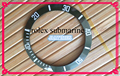 Free Shipping 1pcs 38mm Green and White Date Bezel Insert for Watch Repair