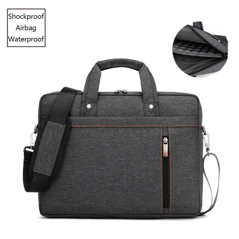 2018 Big size computer bags Cases Shockproof airbag waterproof  Handbag luxury thick Notebook bag 12 13 14 15 15.6 17 17.3 inchLaptop  Bags