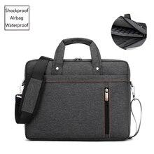 Grande saco do portátil dos homens de negócios airbag grosso escritório pasta sacos notebook caso manga 13 15.6 17.3 polegada bolsa ombro feminino