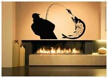 Home Decor Parede Vinil adesivo Decalque Pesca Hobby Adesivo Mural Art Deco Interior Wallpaper 2KN20