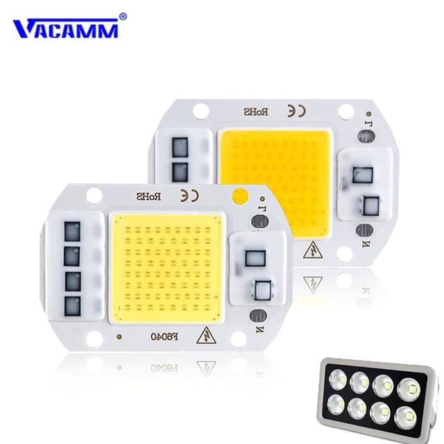 Smart IC LED COB Chip 220V Outdoor Reflector Flood Light Searchlight Street Wall Lamp for DIY Floodlight Spotlight 20W 30W 50W