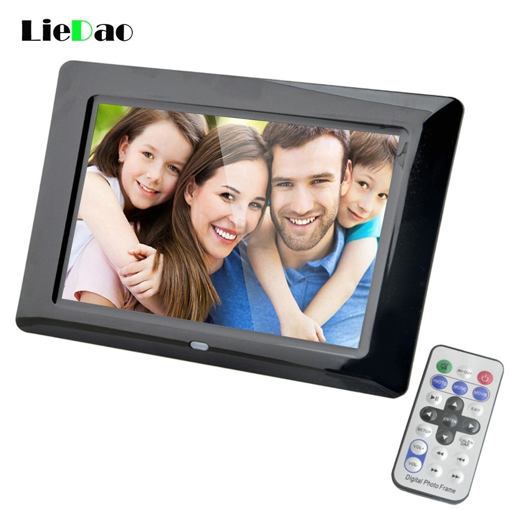LieDao 7 Inch Digital Photo Frame LED Backlight Electronic Album Picture Music Video Full Function Good Gift Baby Marry Wedding electronics