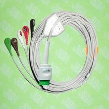 Compatível com Spacelab 17pin 90496,90369 e 90367 Máquina o one-piece 5 chumbo cabo ECG e leadwire snap, IEC ou AHA.