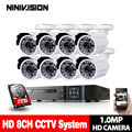 8CH DVR 1080 p HDMI CCTV Sistema Video Recorder 8 pz 2000TVL Home Security 720 p Impermeabile Macchina Fotografica di Visione Notturna kit di sorveglianza