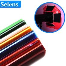 Meking professionnel 40*50cm couleur Gel papier filtre pour Studio Flash projecteur rousse
