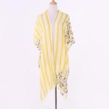 цены Summer Women Long Thin Cardigan Modal Sun Protection Clothing Tops camisetas mujer Cape for swimsuit Beach cape blusas femininas