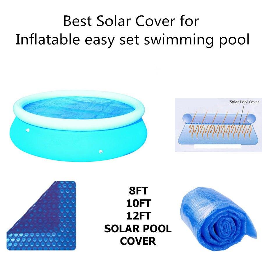 FAST SET EASY SET SWIMMING POOL SOLAR COVER HELPS HEAT THAT POOL NEW 400micron solar pool algae bacterial viruses killer