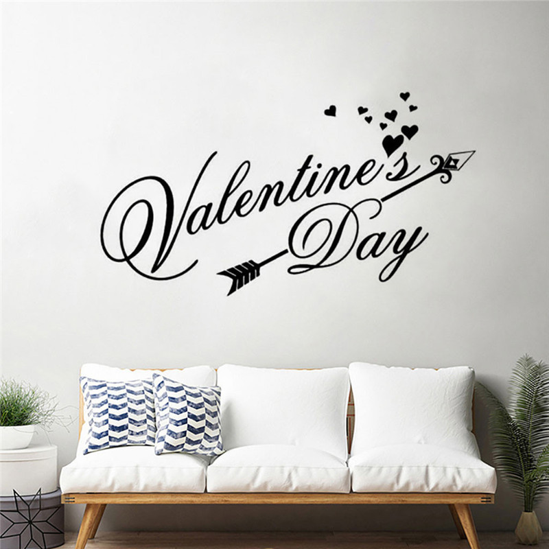 Image 2 - Wall stickers bedroom home decor Removable Vinyl Decal Art Mural Valentine's Home Living Room Decor Wall Stickers wallpaper 2019-in Wall Stickers from Home & Garden