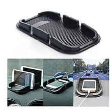 Автомобильные аксессуары силикон творческий двойной слот для карты телефон gps навигации Нескользящие коврик 17,6*11 см Противоскользящий клейкий pad