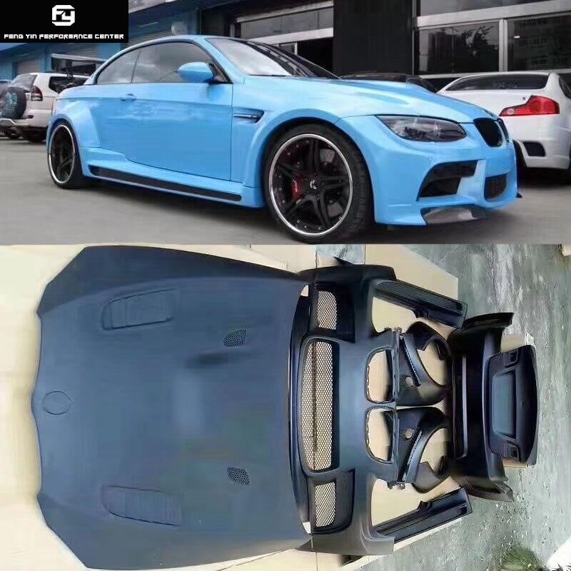 E92 E93 coupe FRP kit carrosserie large pare-chocs avant pare-chocs arrière jupes latérales capot moteur pour BMW E92 E93 Vorsteiner style 08-13