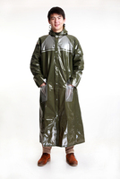 New Arrival Top Fashion Thick Adult Raincoat Long Outdoor Poncho Wholesale super quality women men PVC rainwear