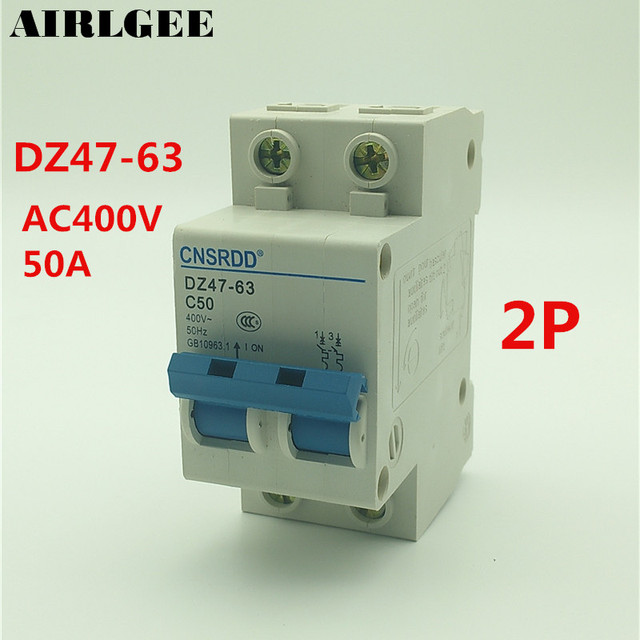 us $9 92 15% off ac 400v 50a 4500a 2 p mcb miniature circuit breaker dz47 63 c50 in circuit breakers from home improvement on aliexpress com alibabaDz4763 Mini Circuit Breaker Mcb Open Electrical Technology Co #10