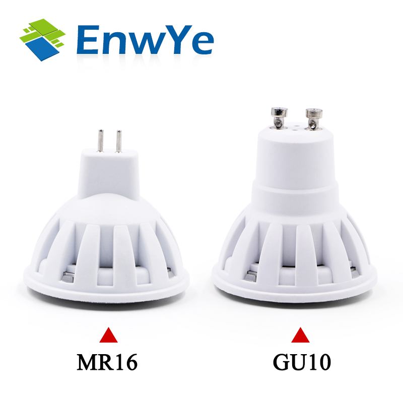 EnwYe LED Lamp GU10 MR16 LED Bulb 2W 3W 4W 5W 6W 220V Lampada LED Condenser Lamp Diffusion Spotlight Energy Saving Home Lighting