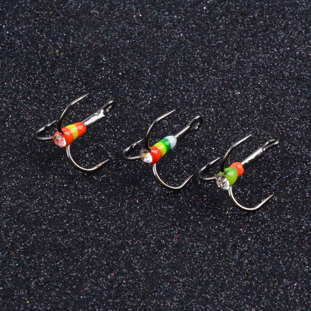5pcs/lot High Carbon Steel Triple Hooks Winter Fishing Hooks With Porcelain Super Sharp Anchor Hook Fishing Accessories