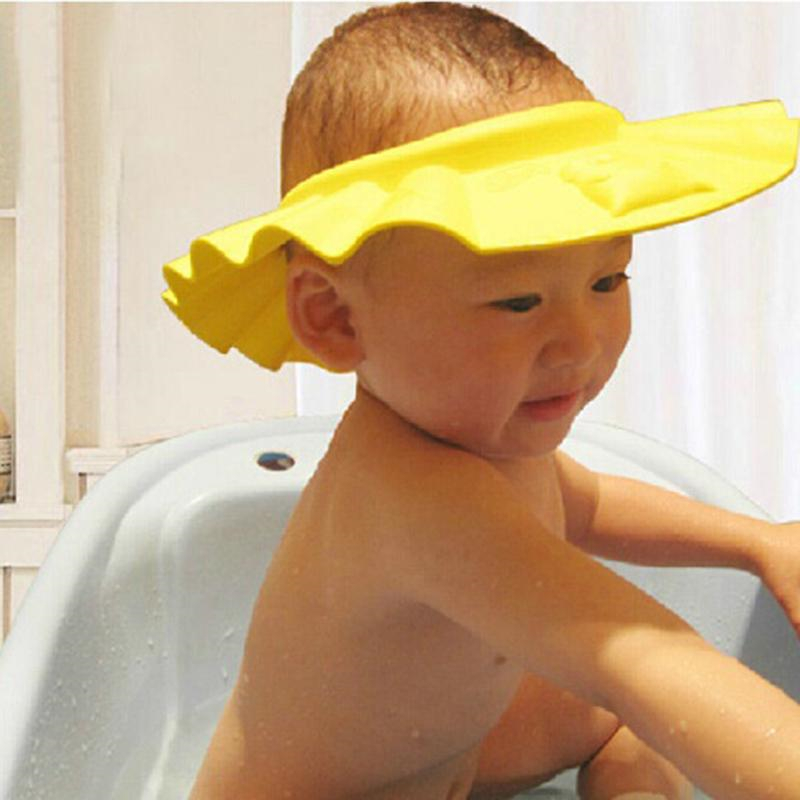 1 Pcs Kinder Wasserdichte Bade Kappe Shampoo Dusche Schützen Hut Weiche Einstellbare Visier Hut Baden Dusche Kappe Hut Dusche Kappe Gute Begleiter FüR Kinder Sowie Erwachsene