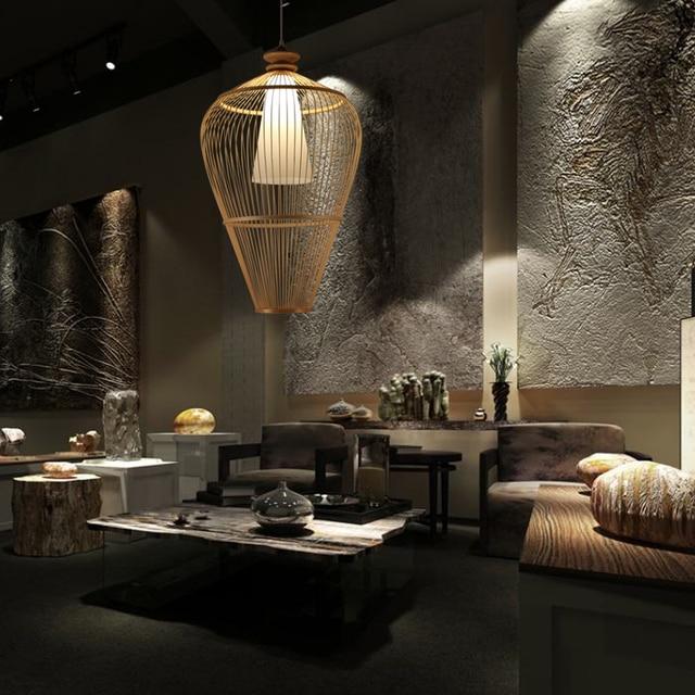 Moderne einfache schlafzimmer anhänger Südost Asiatischen lampen kreative  wohnzimmer esszimmer lampe treppe bambus LU807165