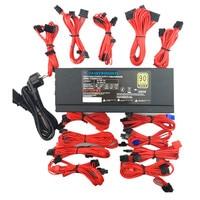 2000W Mining Full Module Modular 110v 220v Power Supply 8 GPU Ethereum ETH Mining ATX PC
