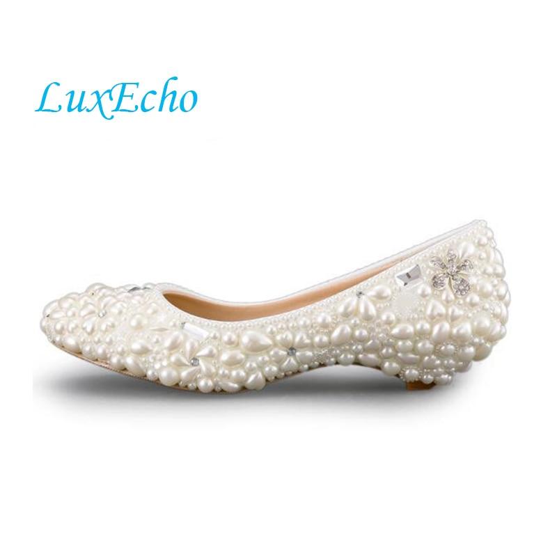 hecho a mano perlas de marfil zapatos de tacn bajo de la boda y zapatos de tacones altos vestido blanco zapatos de novia zapato