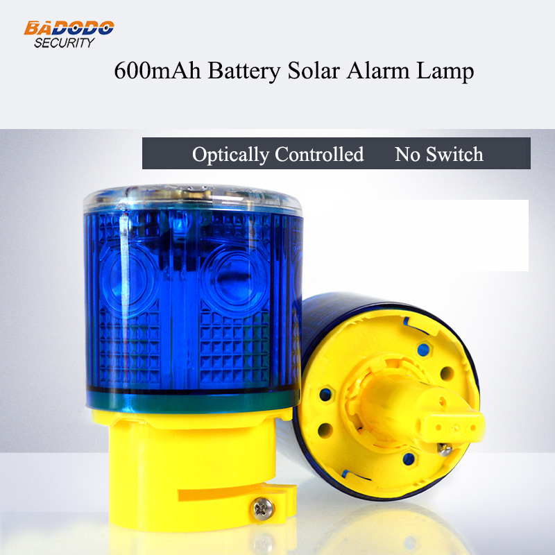 Security Alarm Waterproof Optically Controlled No Switch Solar Warning Alarm Lamp Light Safety Signal Beacon Emergency Traffic Alarm Lamp Light Sufficient Supply