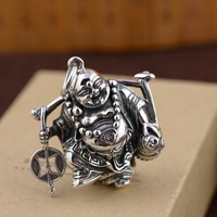 S925 pure silver Thai silver antique style pendant Unique couple design new products