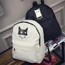 Новый повседневная женщины рюкзак холст Корейский школьные сумки рюкзаки для девочек-подростков опрятный стиль dots женщины сумку набор