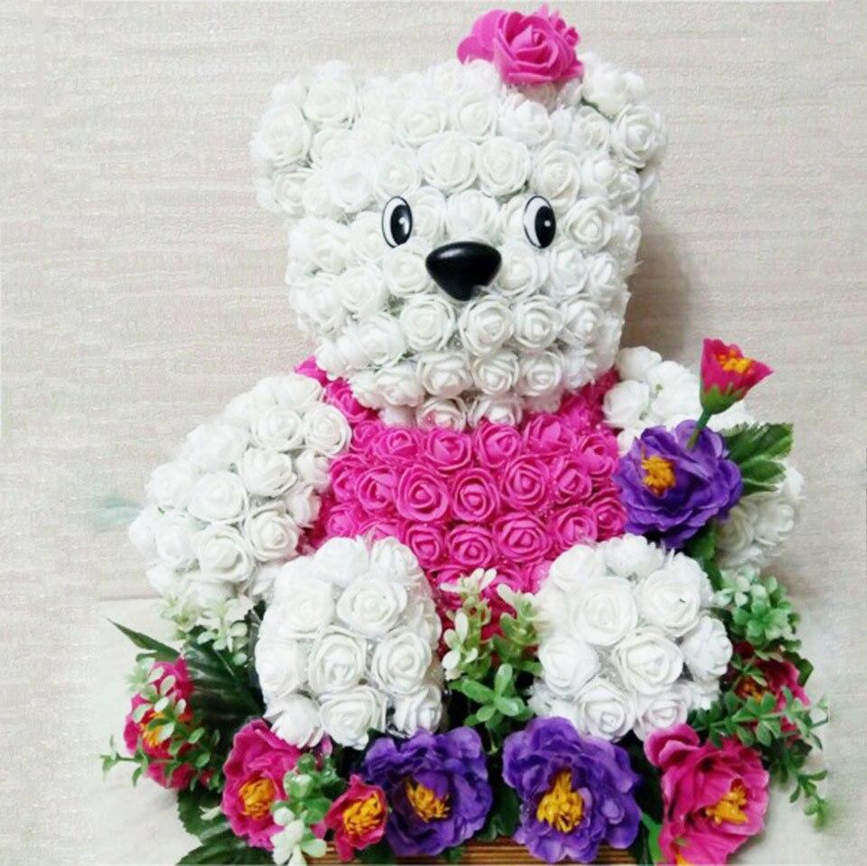 Шт. 144 шт. Искусственные цветы дешевые мини ПЭ пены поддельные цветок розы букет для украшения свадебный автомобиль Скрапбукинг дома DIY венки
