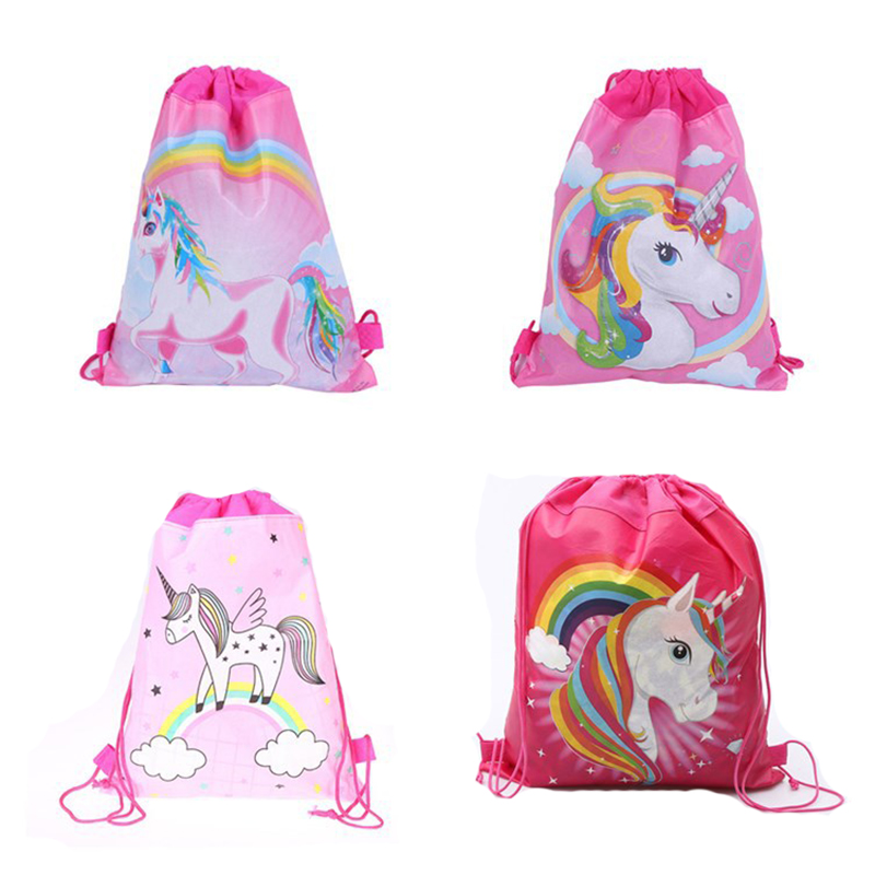 2019 New Unicorn Backpack For Girls Fashion Women Drawstring Bag Schoolbag For Teenagers Children Travel Beach Bag Drop Shipping