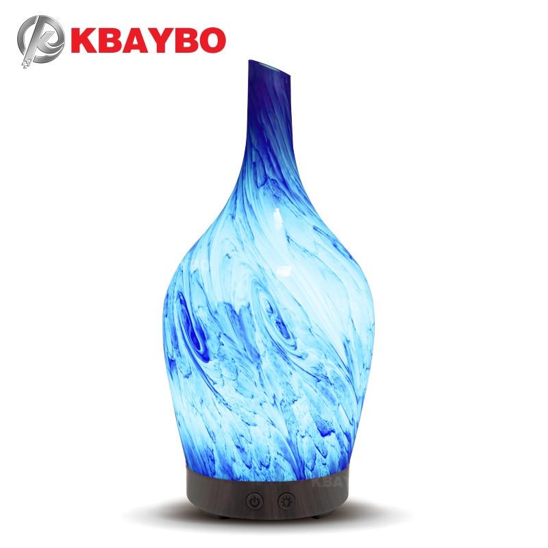 KBAYBO 100 ml Arôme Humidificateur D'air Huile Essentielle Diffuseur Aromathérapie Électrique Diffuseur Mist Maker pour La Maison avec 7 LED lumières