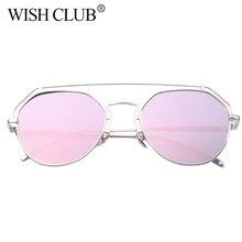 DESEO DEL CLUB 2017 gafas de Sol de Las Mujeres Diseñador de la Marca de espejo de Oro Espejo Vintage Gafas de Sol Mujeres Hombres Gafas gafas de sol párr mujer
