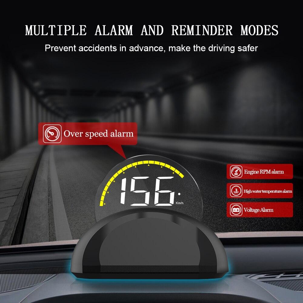lowest price VJOYCAR HD C700 OBD2 Car HUD Head Up Display Automobile Trip On-Board Computer GPS Speedometer Clear projector Diagnostic Tool