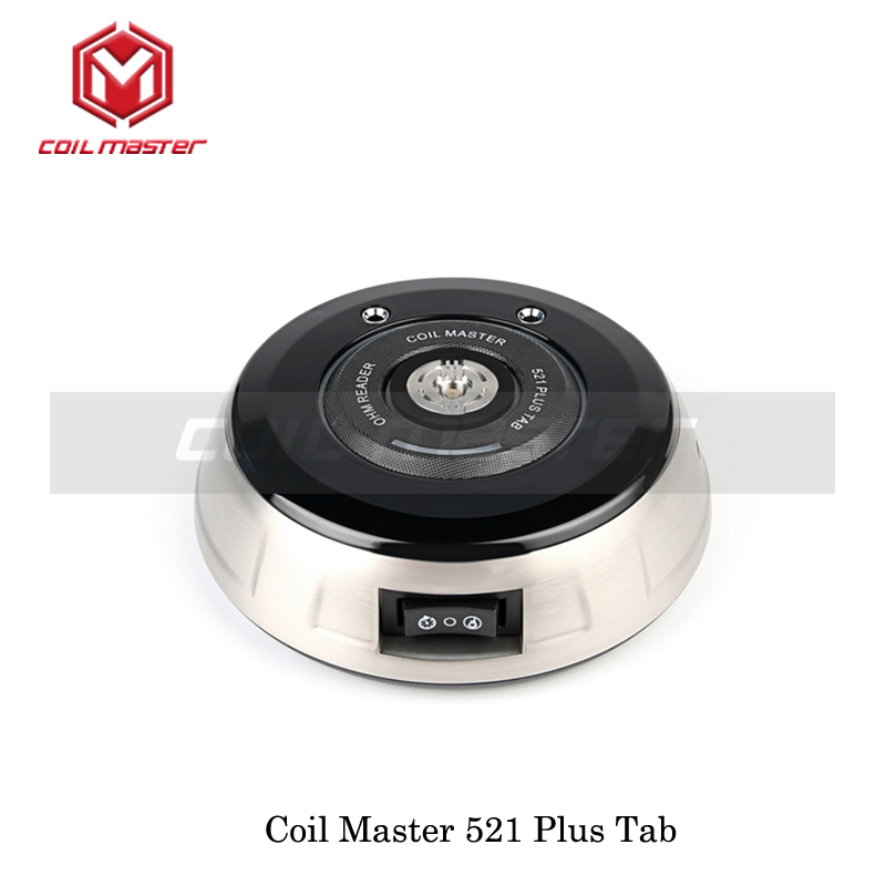 100% Authentic Coil Master 521 Plus Tab for Ohm meter Coil rebuilding Coil burning VS Coil Master 521 Tab Mini Powered by 18650