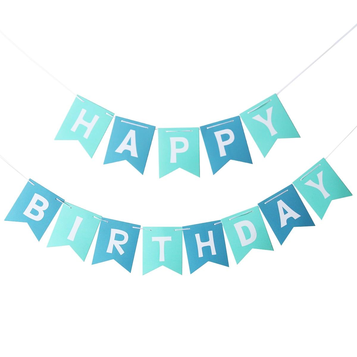 Relatively blue happy birthday banner - Baskan.idai.co GU01