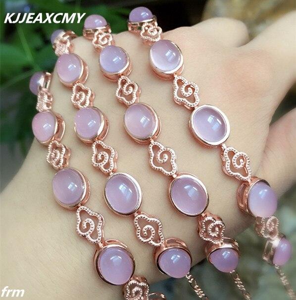 a378e4801e5d Kjjeaxcmy fina joyería simple 925 envolver pulsera de piedra no taladro  estilo hibisco rosa Calcedonia al por mayor FEMA en Pulseras y Brazaletes  de Joyería ...