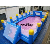 inflatable sports soccer arena,Popular Giant Inflatable Soap Water Soccer Field Pitch for Sale,Rental Inflatable Football Game